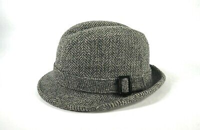 750c733f0fdee VINTAGE PENDLETON FEDORA Men s Hat Size 7 3 8 100% Virgin Wool Gray ...