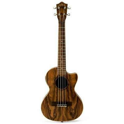 Ukulele Tenor Lanikai Figured Bocote Thinbody AC/EL Natural Satin