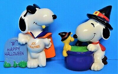Vintage Snoopy Woodstock Pvc Lot Peanuts United Feature Syndicates Joe Vampire