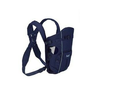 EVENFLO SNUGLI INFANT BABY CARRIER NAVY BLUE  /  Front & Back 7-26 lbs - EUC