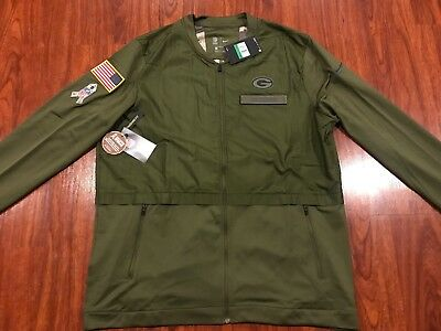 check out 862c2 0b6ca NIKE MEN'S GREEN Bay Packers Salute To Service Hybrid Jacket XL Extra Large  NFL