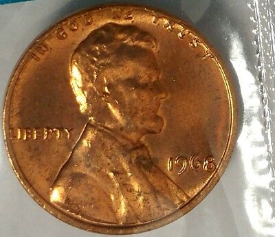 1968-P 1C Lincoln Memorial Cent 19ot0109 BU/Mint Set Only 50 Cents for Shipping