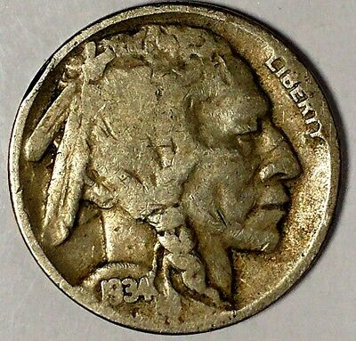 "1934-D 5C Buffalo Nickel,18utu0904  ""Only 50 Cents for Shipping"""