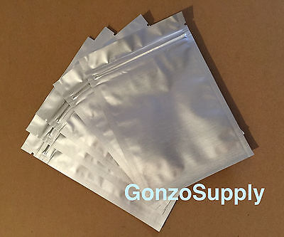 500PC 3x5 Solid Silver Mylar ZipLock Bags-Seeds Food Storage Packaging Survival
