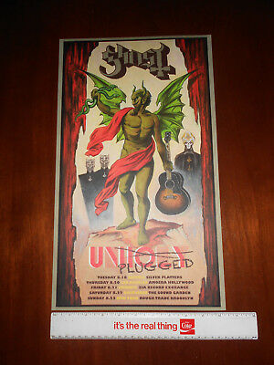 Ghost BC Unplugged Tour poster Meliora Unholy Lithograph PROMO