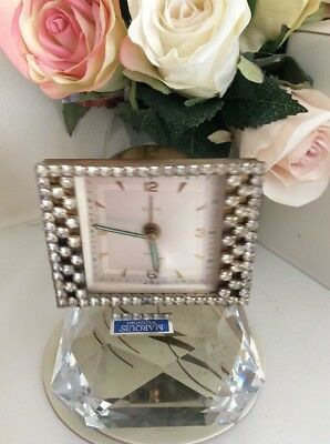 Elgin Alarm Clock Rhinestone Vintage germany
