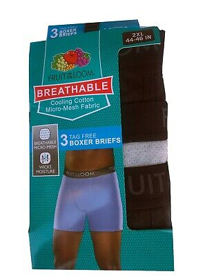 Fruit of the Loom® BIG MEN'S BREATHABLE COTTON MICRO-MESH BOXER BRIEFS 3/6-Packs