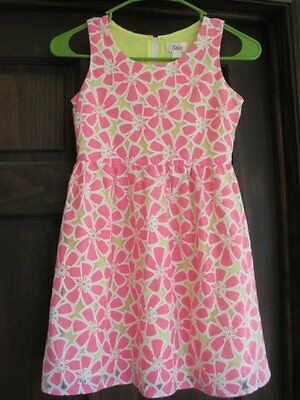 Justice size 8 hot pink white floral lace dress spring Easter