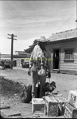 Early 1900s Mexican Cowboy Salesman  ORIGINAL PHOTO NEGATIVE