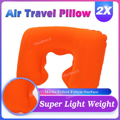 Inflatable Travel Pillow Set of 2 Portable Flight Neck Rest Cushion Support 2019
