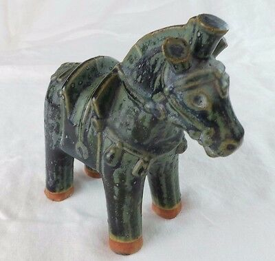 Pre Columbian Ceramic Clay Horse Vintage Reproduction