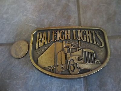 RALEIGH LIGHTS Belt Buckle with SEMI TRUCK