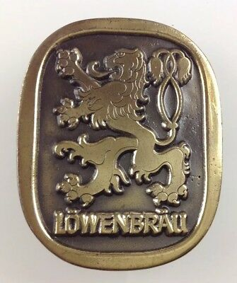 Lowenbrau Brass Vintage Estate Find Belt Buckle