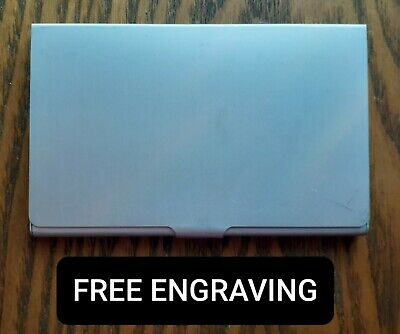 FREE ENGRAVING (PERSONALIZED) Business Card Case Holder Metal Aluminum