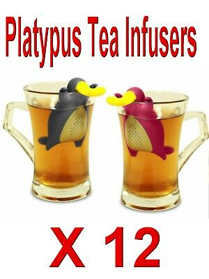 PLATYPUS TEA INFUSERS X 12  CATERES PACK Assorted colours