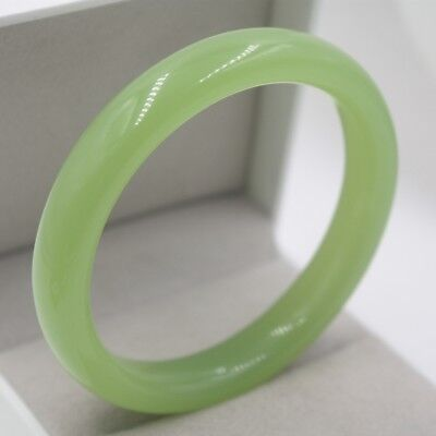 New Arrival Perfect Green Agate Bracelet Woman Fine Elegant Smooth Bangle 60mm