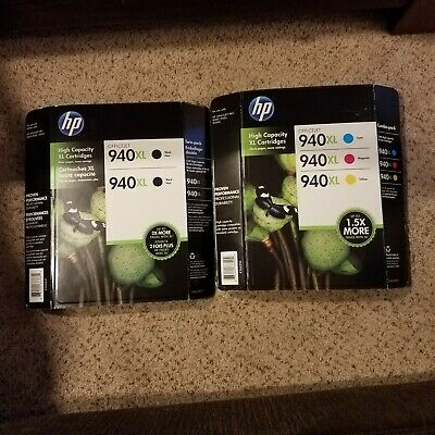 HP 940XL Genuine Ink Cartridges Twin And Combo Packs Black color High capacity