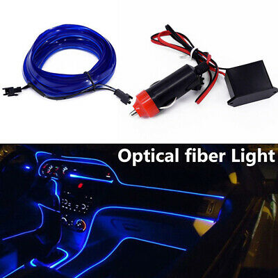 4M LED RGB Charge Light Car Interior Center Console Foot Decorative Universal E