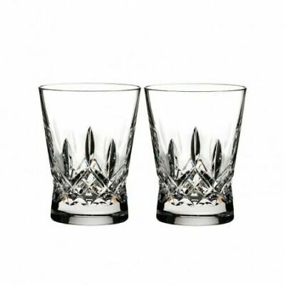 Waterford Lismore Pair Pops Double Old Fashioned Tumblers cobalt Blue pink clear