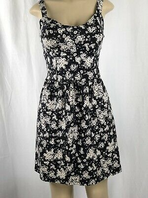 50fe3cc0ebc Women s Pink Rose Open Back Sleeveless Floral Skater Dress Size Large JJ5