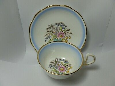 Vintage Royal Albert Bone China Teacup and Saucer 1927-1935 Handpainted