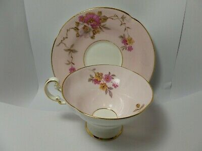 Vintage Old Royal Bone China Tea Cup Pink with Gold Gilding