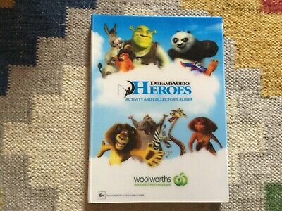 Dreamworks Heroes Collectors' Album complete with 42 cards