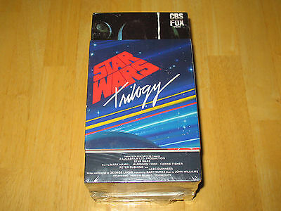 '88 1st Release Star Wars Triple Pack Trilogy on VHS, Brand New! Sealed! Rare!