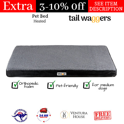 Tail Waggers Electric Heated Pet Bed Pet-friendly Orthopedic Foam - Medium Dogs