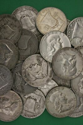 90% Silver Franklin Half Dollar Coins - Circulated, Choose How Many