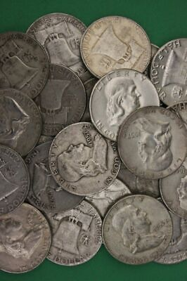 Franklin Half Dollars , 90% Silver Coin Lot , Circulated, Choose How Many