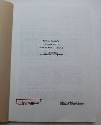 In Cold Blood / Benedict Fitzgerald 1996 Script, based on Truman Capote's book