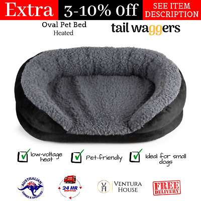 Tail Waggers Electric Heating Oval Pet Bed Pet-friendly Mattress for Small Dogs