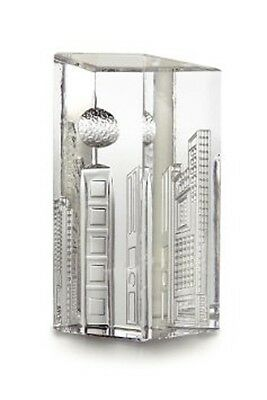 Waterford Crystal Times Square Crystal Prism Paperweight Collectors Figurine