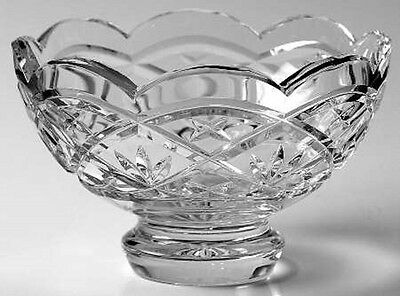 Waterford Crystal Cullen Large Scalloped Crystal Centerpiece Footed Bowl (NEW)