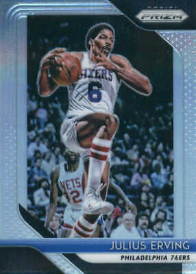 f82aa7e3d8fa4 2018-19 PANINI PRIZM Prizms Red White and Blue #95 Julius Erving ...