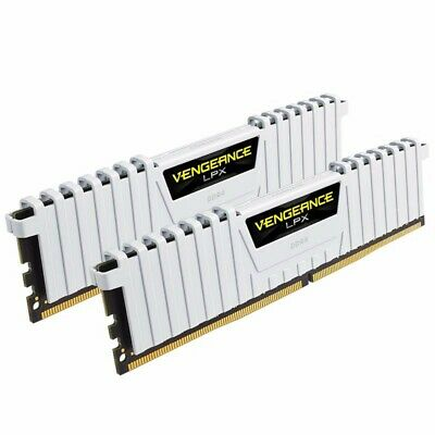Corsair 16GB (2x8GB) DDR4 3000MHz Vengeance LPX White Memory RAM PC