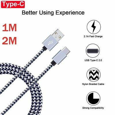 For Samsung Galaxy A50 A30 M20 USB Type C Nylon Fast Charging Cable Data Charger