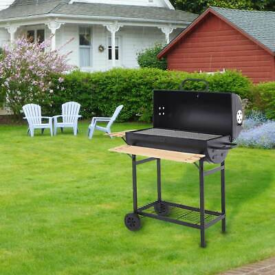 Large Charcoal Barrel BBQ Grill Big Garden Barbecue Garden Smoker Outdoor Party