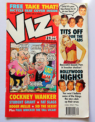 Viz Comic Issue 70 Free Take That Bicycle Seat Cover Student Grant Ages 18+