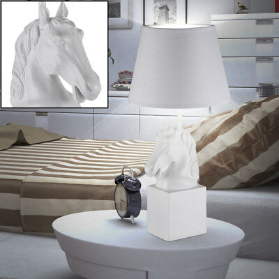Horses Head Table White Lamp Art Gemstone Labour Market Room Textile Reading