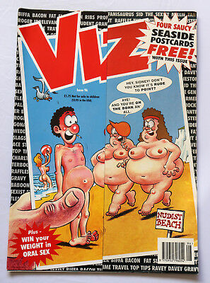 Viz Comic Issue 96 Four Saucy Seaside Postcards Free Squaddie Mc Dowell Ages 18+