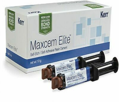Dental Kerr Maxcem Elite Self-Etch, Self-Adhesive Resin Cement Free Ship