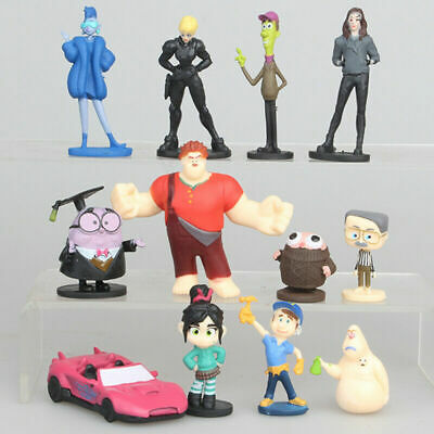 12pcs Wreck-It Ralph 2 Breaks the Internet Action Figure Toy Doll Gift Vanellope