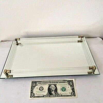 Collectible, Tray, Vanity/Perfume, Mirrored w/glass railing, post 1970, China