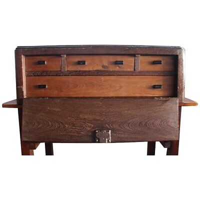 A Continental Renaissance Revival Fall-Front Cabinet, Antique Table Cabinet