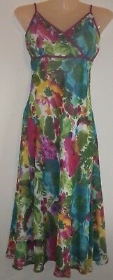NEW George Collection,Green,Pink Floral Strappy Dress,Cruise,Cost,£22 Size 10 S
