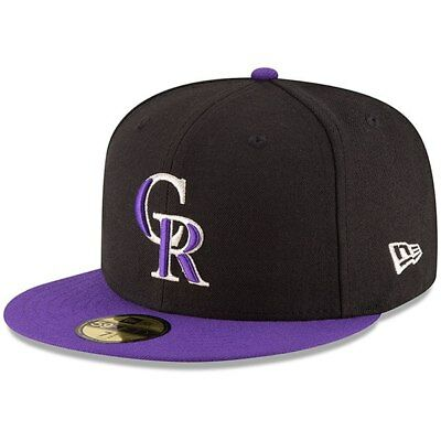 uk availability d7e9d bdc73 MLB Cap Purple New Era Colorado Rockies ALT 2 59Fifty Fitted Hat