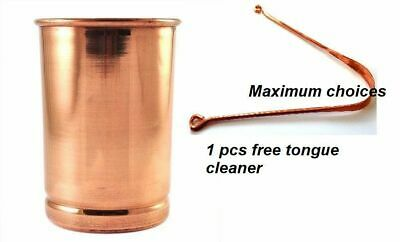 1X handmade pure Copper glass cup Tumbler for water India Capacity New