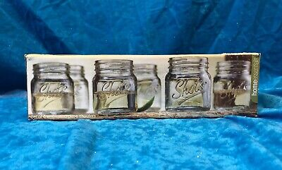 Set Of 6 Embossed Glass Shooters